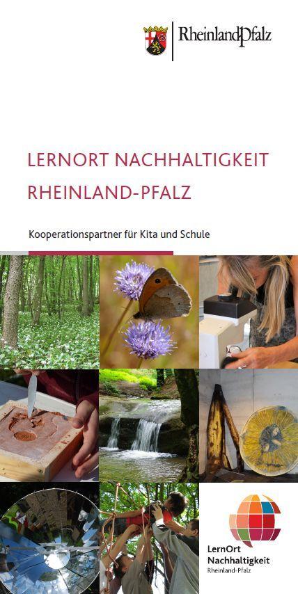 Titelseite Flyer LenrOrt Nachhaltigkeit Rheinland-Pfalz